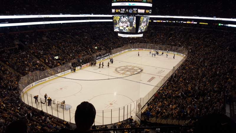 Seating view for TD Garden Section Bal 311 Row 3 Seat 9