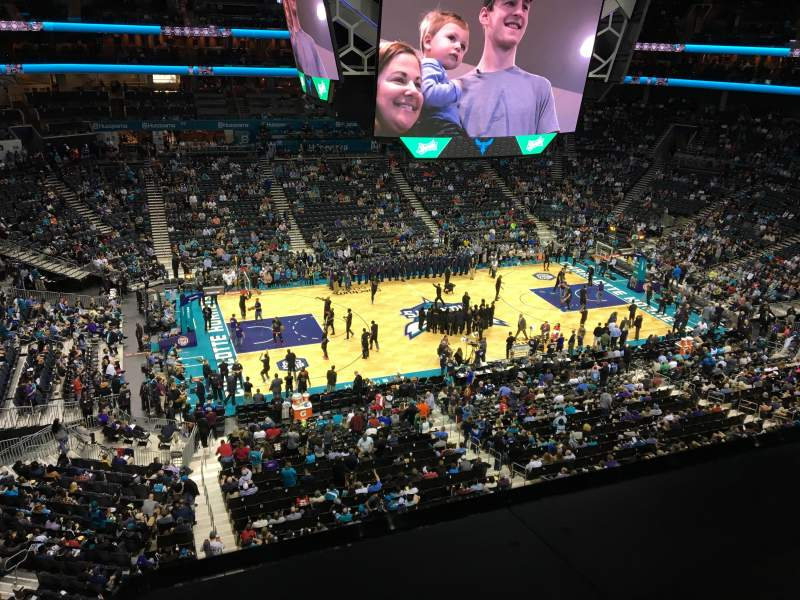 Seating view for Spectrum Center Section 210 Row A Seat 14