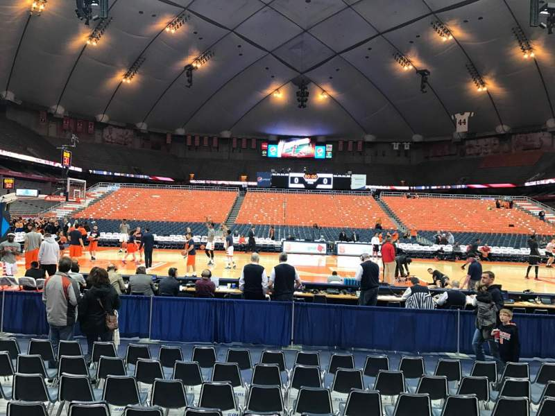 Seating view for Carrier Dome Section 109 Row A Seat 109