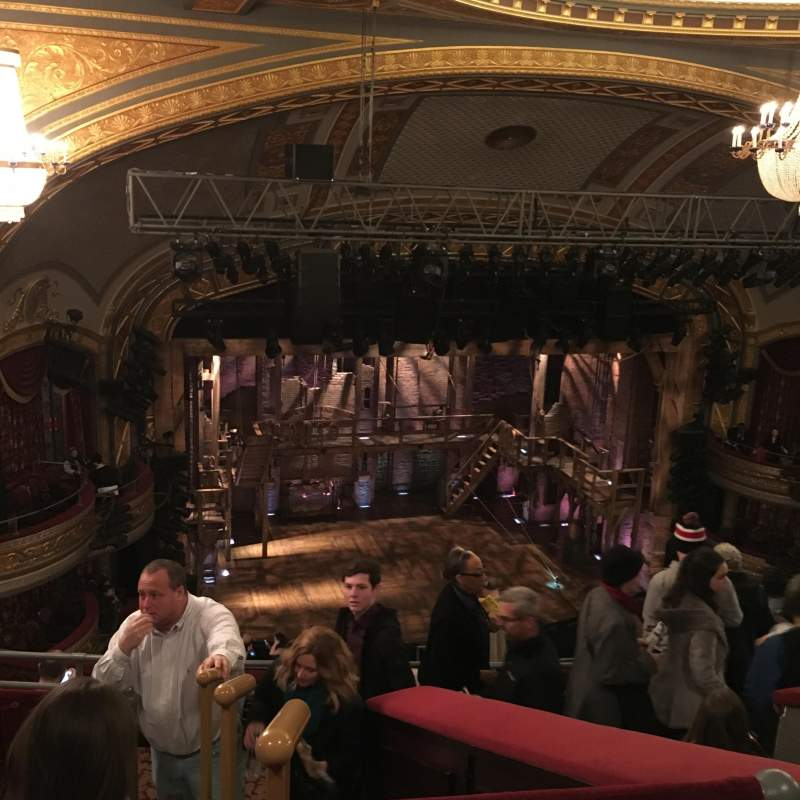 Seating view for Richard Rodgers Theatre Section Rear Mezzanine L Row E Seat 13