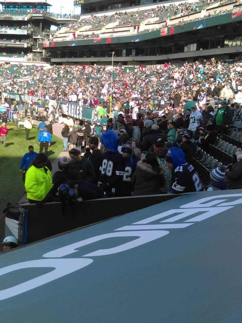 Seating view for Lincoln Financial Field Section 107 Row 3 Seat 8