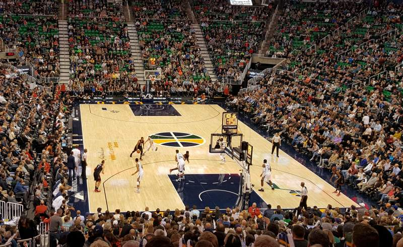 Seating view for Vivint Arena Section 2 Row 27 Seat 16