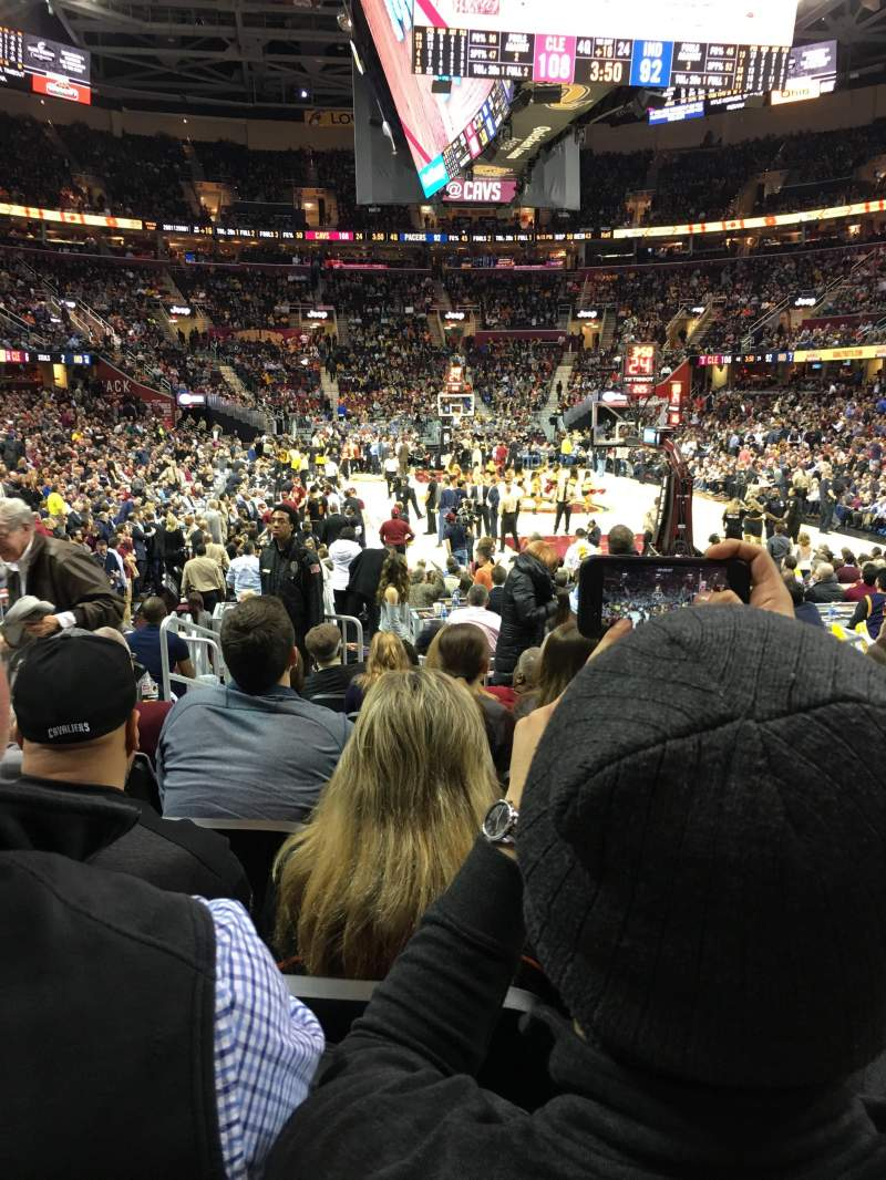 Seating view for Quicken Loans Arena Section 133 Row 9 Seat 7