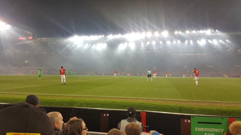 Seating view for Old Trafford Section N1408 Row DD Seat 130