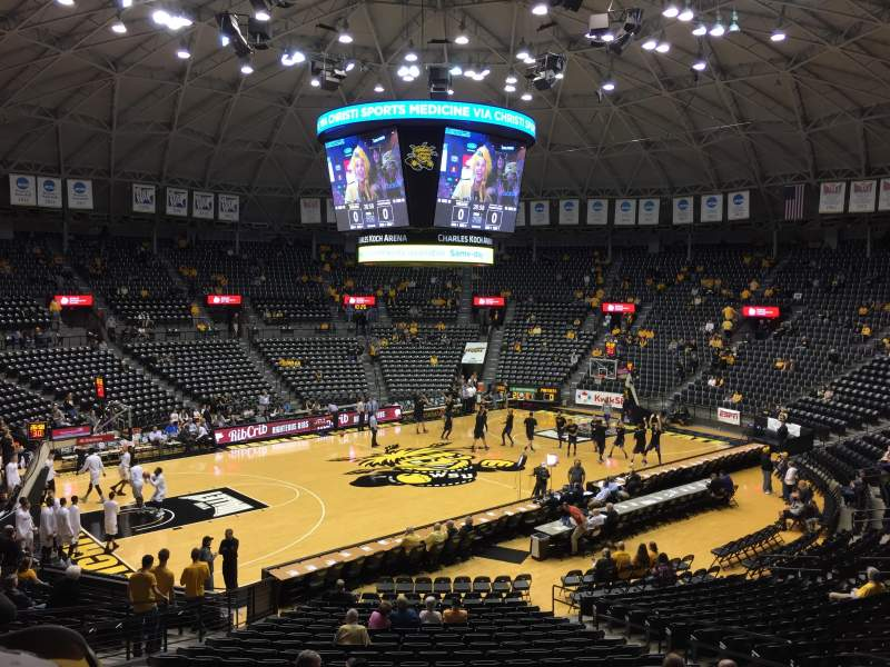Seating view for Charles Koch Arena Section 112 Row 23 Seat 7