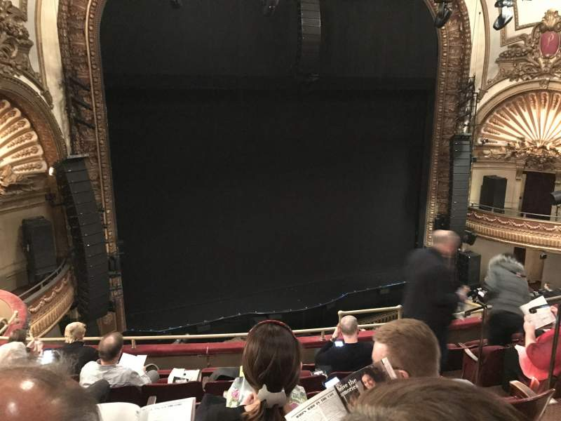 Seating view for Palace Theatre (Broadway) Section Mezz Row F Seat 7