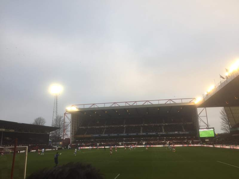 Seating view for City Ground Section X2 Row G Seat 119