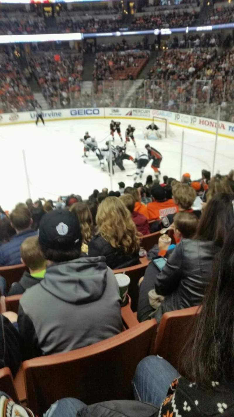 Seating view for Honda Center Section 220 Row m Seat 14