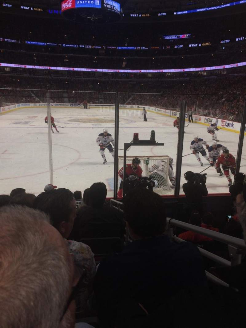 Seating view for United Center Section 117 Row 8 Seat 4