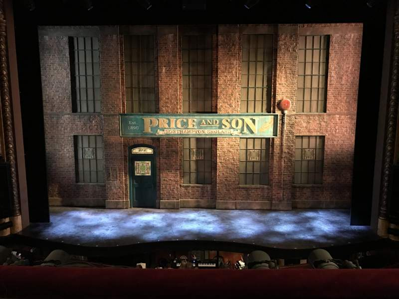Seating view for Al Hirschfeld Theatre Section Mezzanine C Row B Seat 107