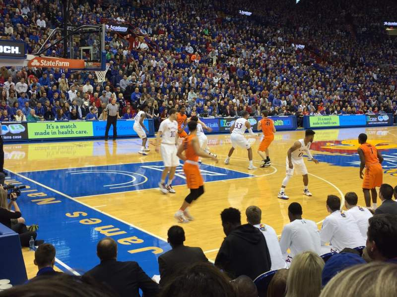 Seating view for Allen Fieldhouse Section U Row 5 Seat 10