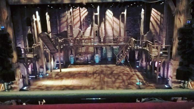 Seating view for Richard Rodgers Theatre Section Front Mezzanine C Row A Seat 106