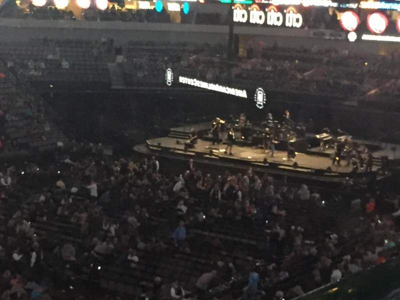 Seating view for American Airlines Center Section 213 Row A Seat 1