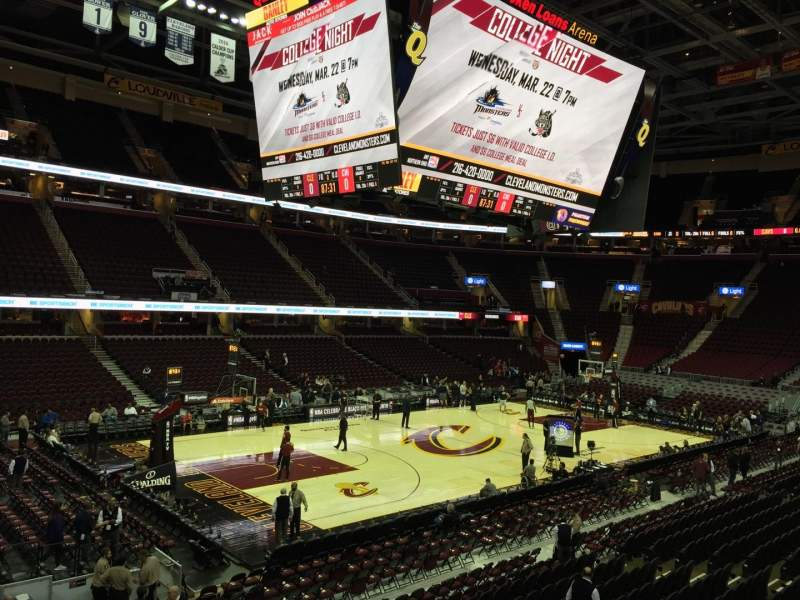 Seating view for Quicken Loans Arena Section 106 Row 16 Seat 8