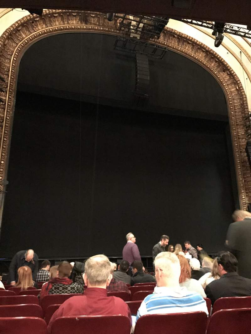 Seating view for Palace Theatre (Broadway) Section Orchestra Row N Seat 119