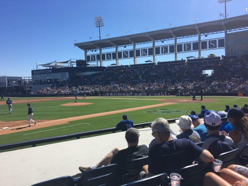 Seating view for George M. Steinbrenner Field Section 117 Row GG Seat 9