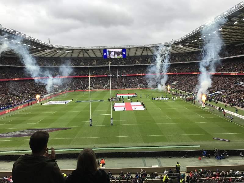 Seating view for Twickenham Stadium Section M19 Row 55 Seat 117
