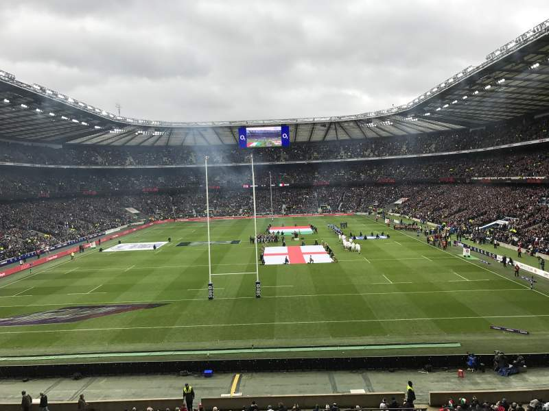 Seating view for Twickenham Stadium Section M19 Row 54 Seat 118
