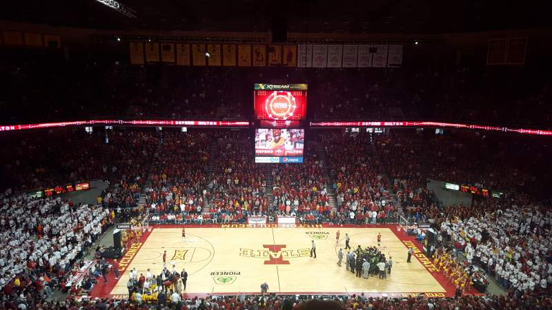 Seating view for Hilton Coliseum Section 212 Row 11 Seat 4