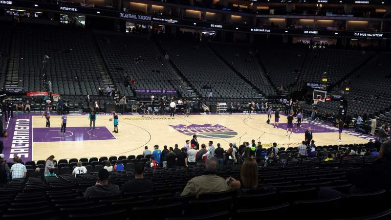 Seating view for Golden 1 Center Section 121 Row L Seat 16