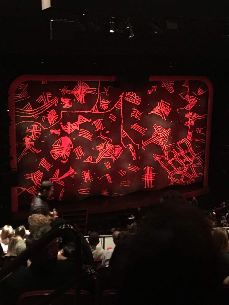 Seating view for Minskoff Theatre Section Mezz Row G Seat 101
