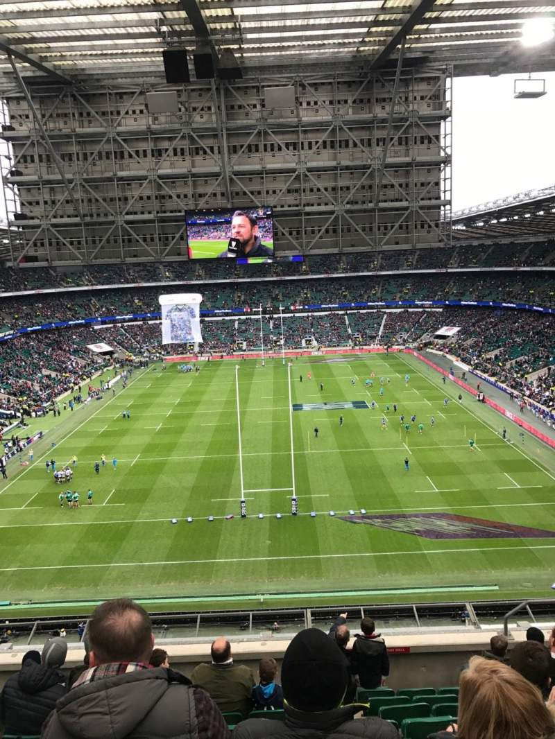 Seating view for Twickenham Stadium Section U45 Row J Seat 197