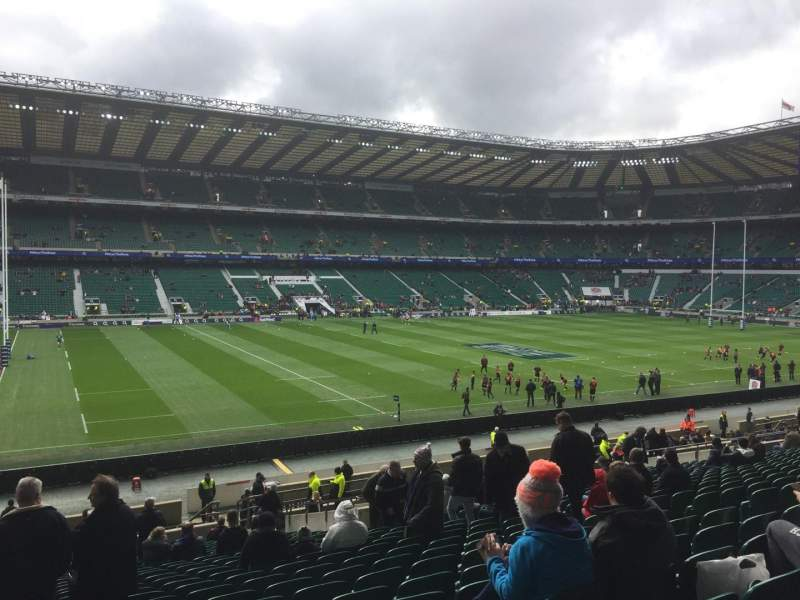 Seating view for Twickenham Stadium Section East Row L34 Seat 309