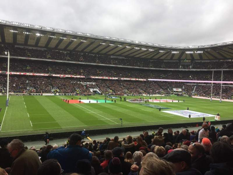 Seating view for Twickenham Stadium Section East Lower Row L28 Seat 309