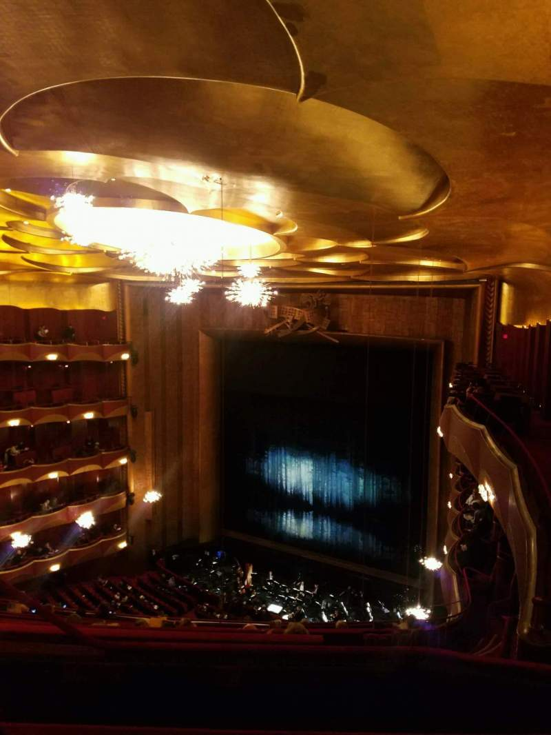 Seating view for Metropolitan Opera House - Lincoln Center Section Family Circle Row C Seat 10