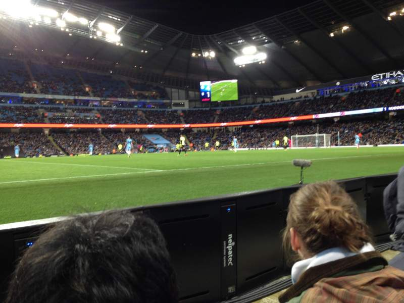 Seating view for Etihad Stadium (Manchester) Section Block 106 Row 2 Seat 123