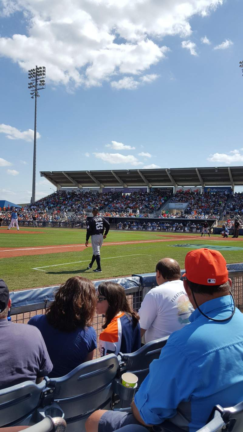 Seating view for Charlotte Sports Park Section 114 Row 3 Seat 7