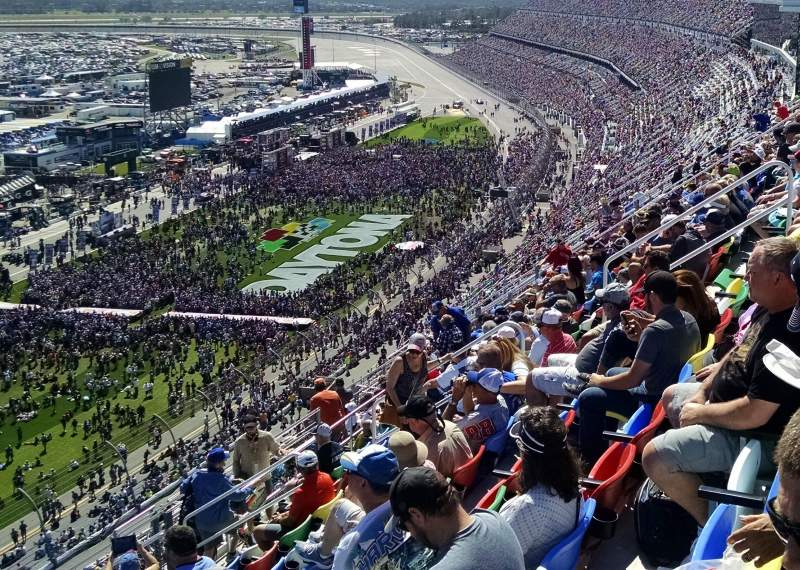 Seating view for Daytona International Speedway Section 438 Row 38 Seat 17