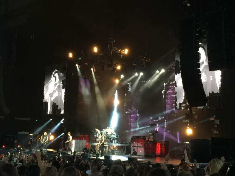 Seating view for Budweiser Stage Section 201 Row M