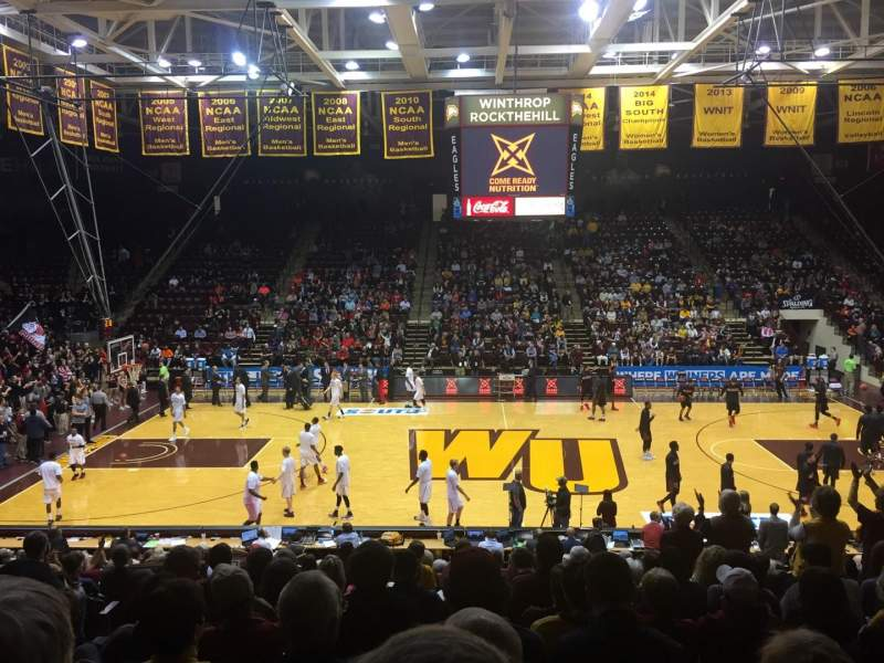 Seating view for Winthrop Coliseum Section 123 Row Q Seat 10