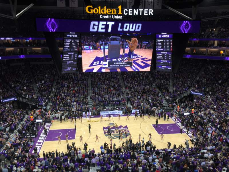 Seating view for Golden 1 Center Section 218 Row A Seat 23-24