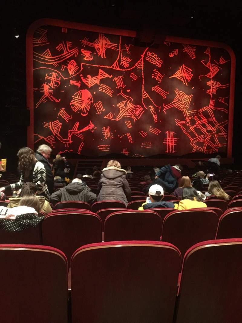 Seating view for Minskoff Theatre Section Orchestra C Row R Seat 102