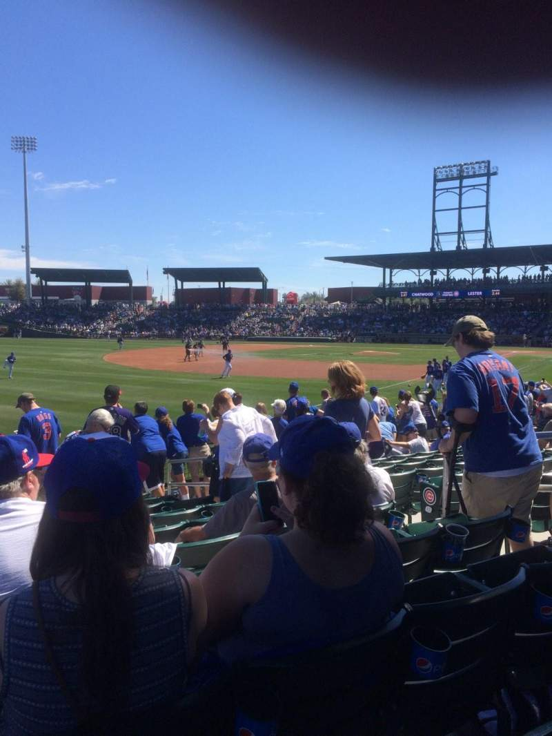 Seating view for Sloan Park Section 102 Row 18 Seat 15
