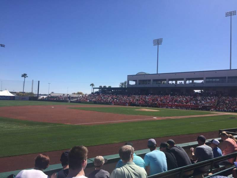 Seating view for Tempe Diablo Stadium Section 3 Row F Seat 3