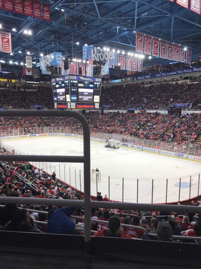 Seating view for Joe Louis Arena Section 217 Row 2 Seat 16