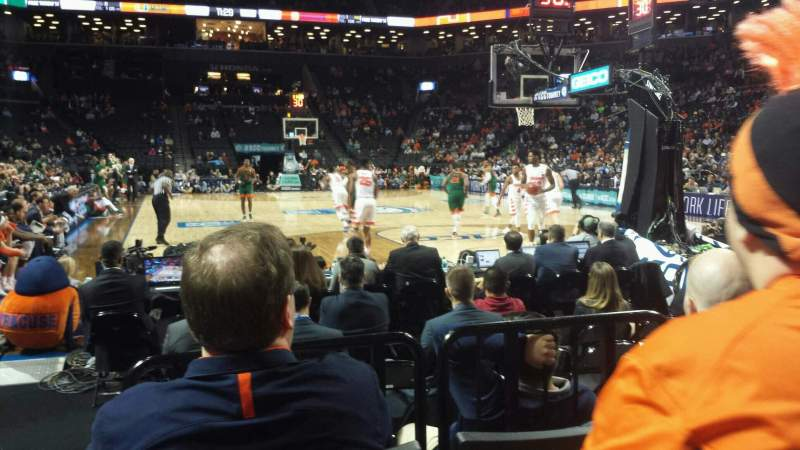 Seating view for Barclays Center Section 1 Row 5 Seat 14