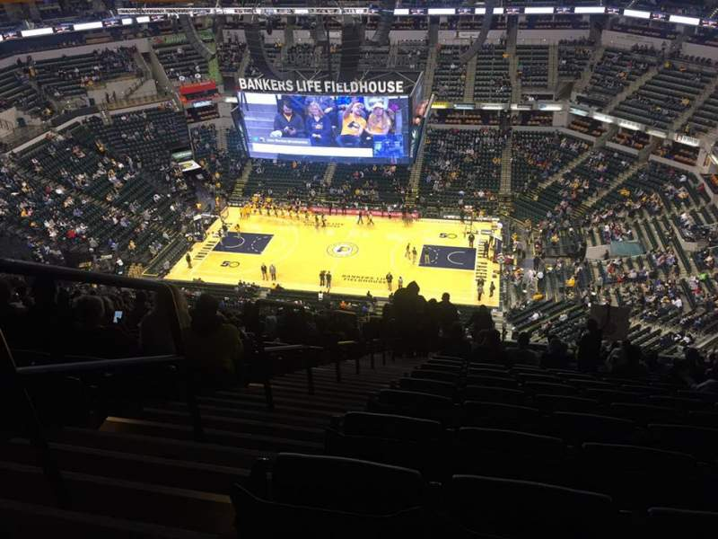 Seating view for Bankers Life Fieldhouse Section 223 Row 22 Seat 16