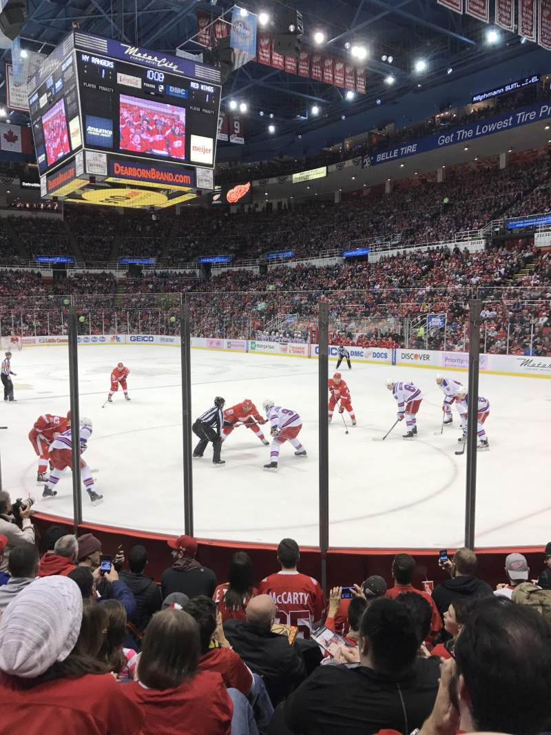 Seating view for Joe Louis Arena Section 103 Row 6 Seat 3