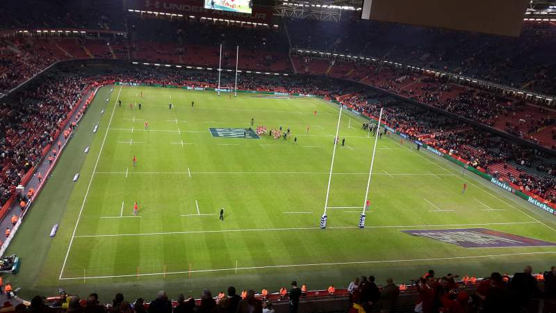 Seating view for Principality Stadium Section U21 Row 25 Seat 6