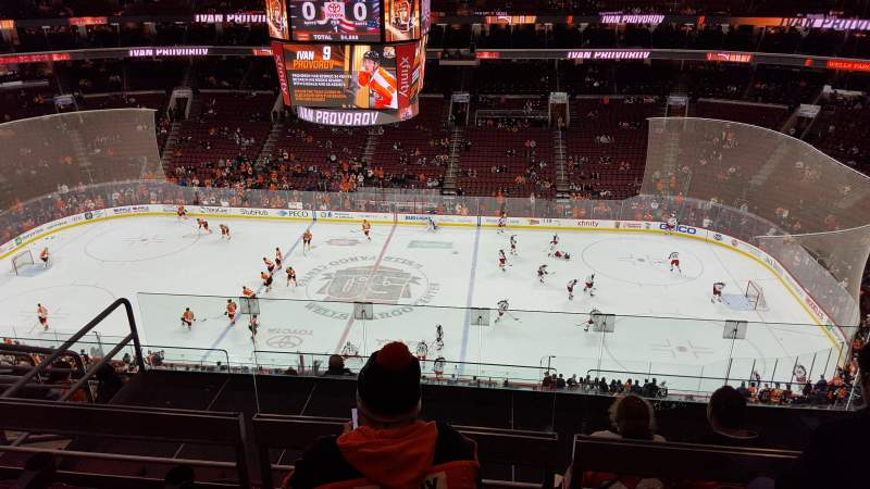 Seating view for Wells Fargo Center Section 202 Row 8 Seat 11