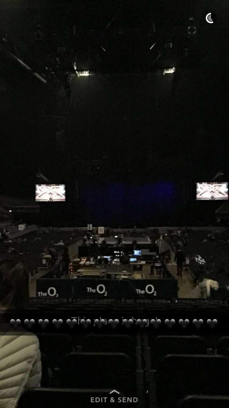 Seating view for The O2 Arena Section 107 Row G Seat 206