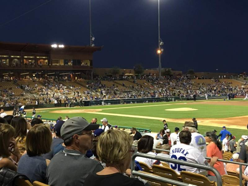 Seating view for Camelback Ranch Section 104 Row 6 Seat 18