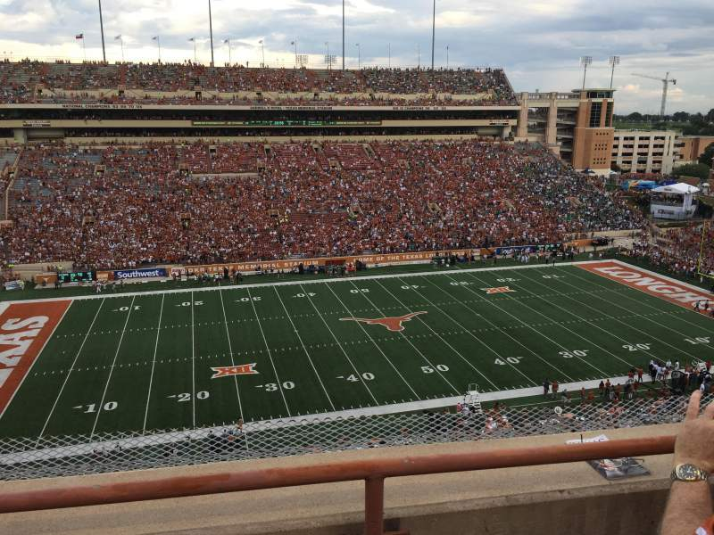 Seating view for Texas Memorial Stadium Section 107 Row 2 Seat 5