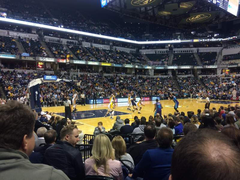 Seating view for Bankers Life Fieldhouse Section 18 Row 10 Seat 5