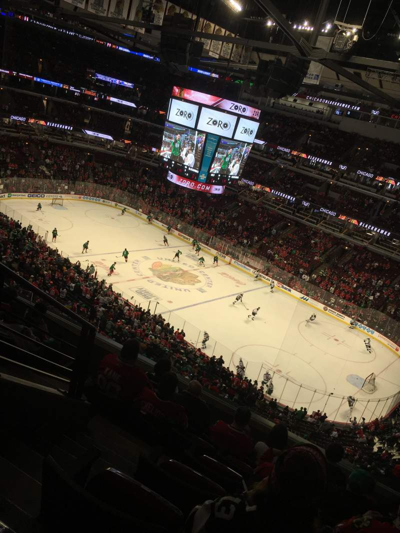 Seating view for United Center Section 331 Row 7 Seat 13/14