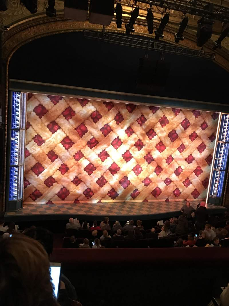 Seating view for Brooks Atkinson Theatre Section Front Mezzanine L Row C Seat 1